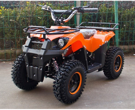 Детский квадроцикл электро J-Rider 800W (Литевая батарея, оранж)