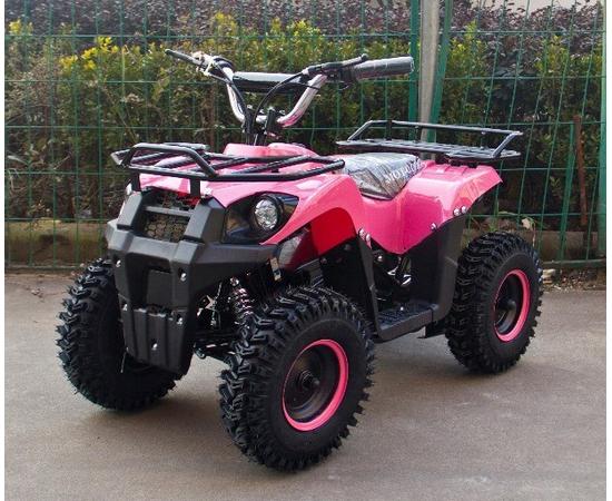 Детский квадроцикл электро J-Rider 800W (Литевая батарея, розовый)